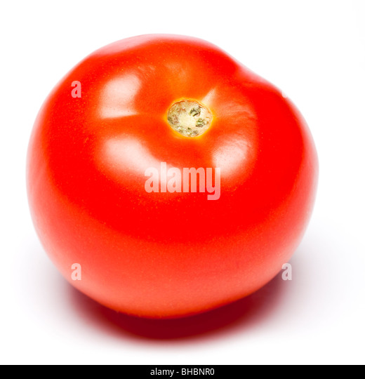 Tomato on white background, studio - Stock Image