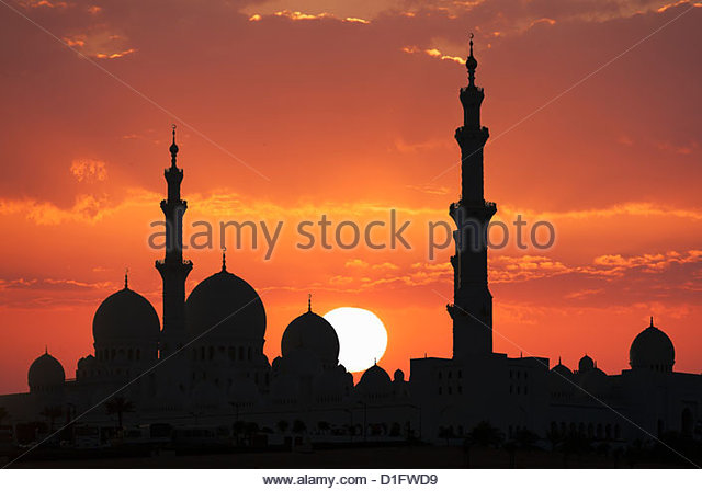 Sheikh Zayed Mosque, Abu Dhabi, United Arab Emirates, Middle East - Stock Image