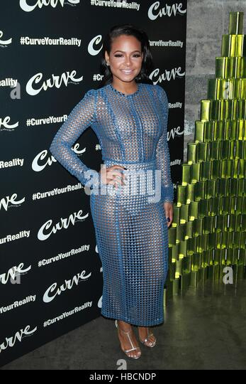 New York, NY, USA. 6th Dec, 2016. Christina Milian attends #CurveYourReality Launch Event Hosted By Actress & - Stock Image