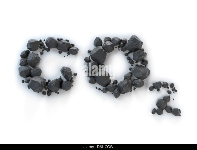 Carbon dioxide, artwork - Stock Image