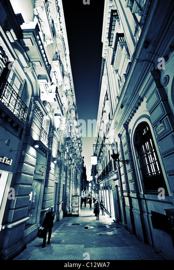 Zacatin Street, Granada, Andalusia, Spain - Stock Image