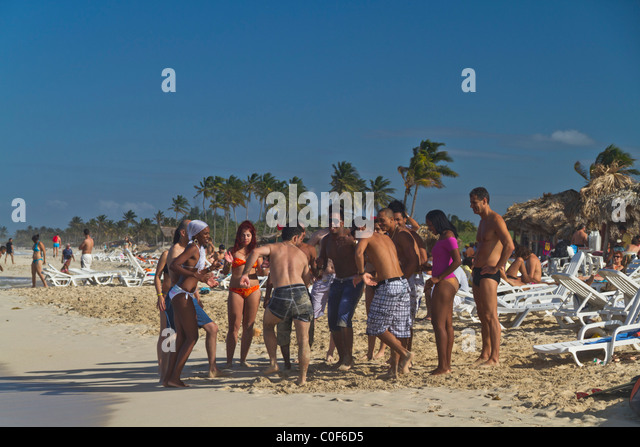 Teenager at Playa del Este, Santa Maria Del Mar, near Havanna Cuba - Stock Image