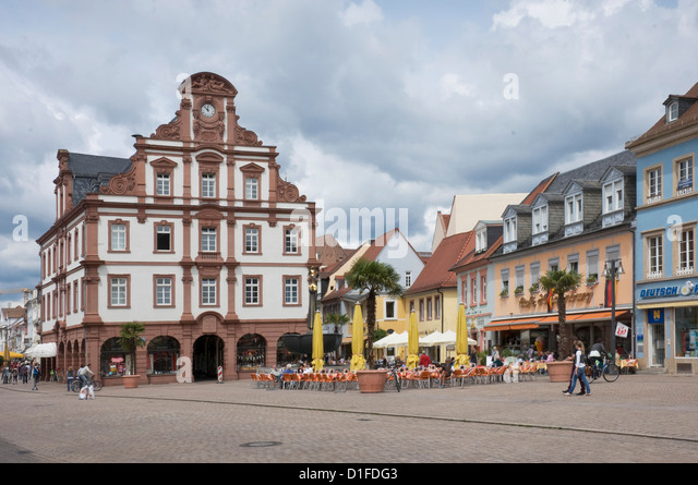 The Town Hall in the main square, Speyer, Rhineland Palatinate, Germany, Europe - Stock-Bilder