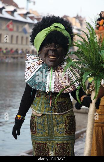 Lucerne Carnival African grotesque - Stock-Bilder