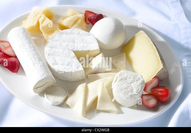 Cheese Platter - Stock Image