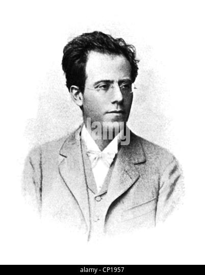 grinder, Gustavus, 7.7.1860 - 18. 5.1911, Austrian composer, conductor, portrait, eyeglasses, bow tie, bow ties, - Stock Image