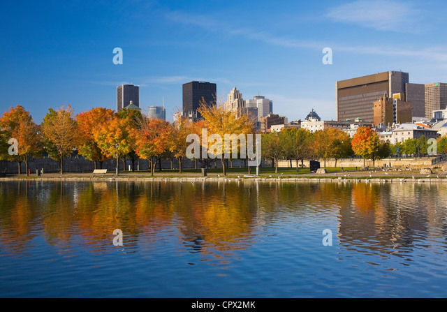 Skyline, Montreal, Quebec, Canada - Stock Image