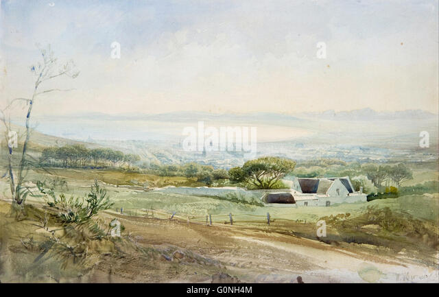 Heinrich Hermann - Cape Town from the Top of Kloof Street - Stock Image