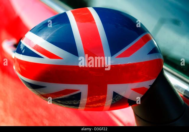 Mini Cooper General Lee >> England Car Flag Stock Photos & England Car Flag Stock Images - Alamy