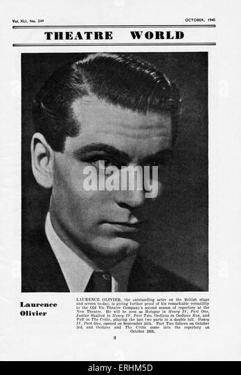 Sir Laurence Olivier - portrait of the English actor, director, & producer in 1945. 22 May 1907 -  11 July 1989. - Stock Image