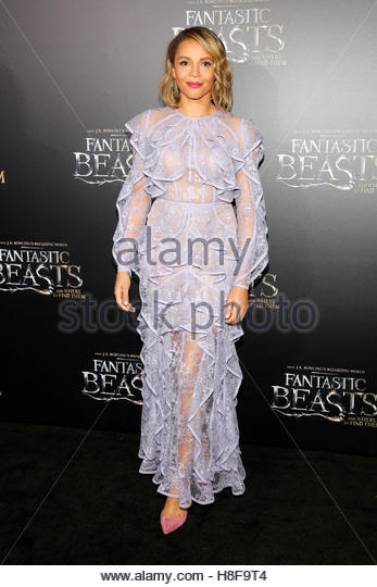 Actor Carmen Ejogo attends the premiere of ?Fantastic Beasts and Where to Find Them? in Manhattan, New York, U.S., - Stock-Bilder