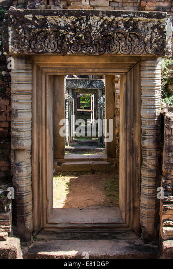 Angkor Archaeological Park is made up of many temples, shrines and mini cities.   That is, the magnificent remains - Stock Image