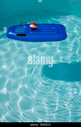 Air mattress in a swimming-pool the Canary Islands. - Stock Image