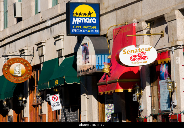 Quebec city restaurants stock photos quebec city for Equipement de restaurant montreal