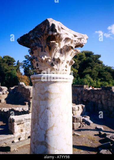 Historic Ruins Kos Greece - Stock Image