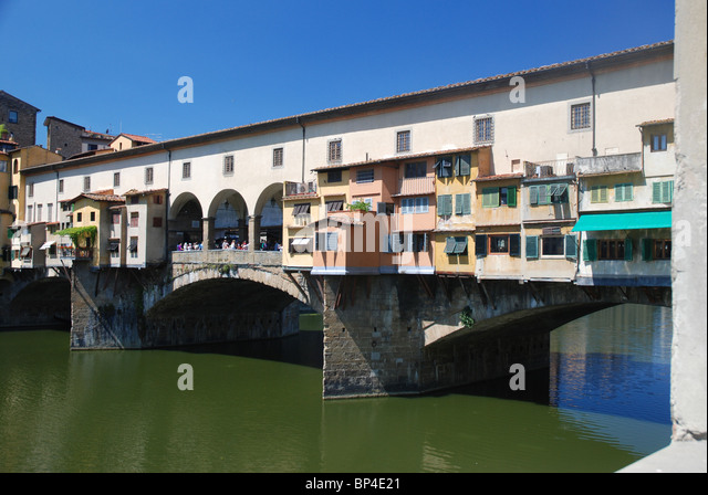 Ponte Vecchio Bridge, Florence, Italy - Stock Image