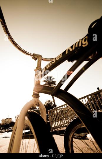 The place to cruise on a bike, Santa Cruz, USA. - Stock-Bilder