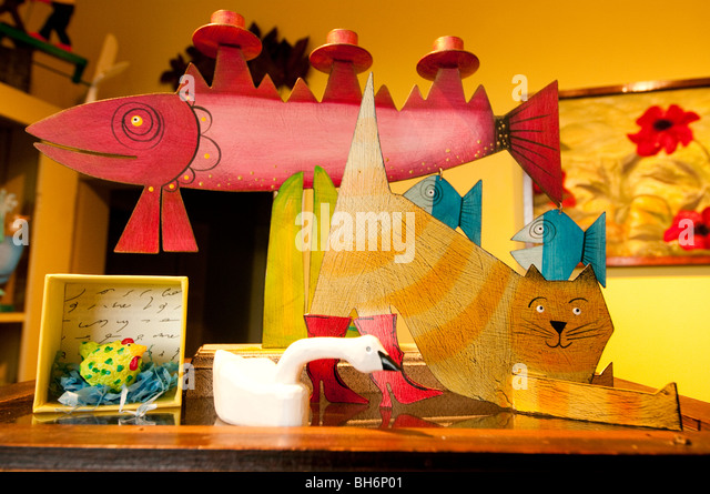 Nova Scotia, Annapolis Royal, Shopping, Catfish Moon Crafts & Pottery. - Stock Image