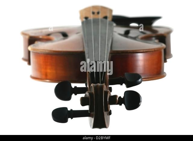 Old violin concert in a white background, selective focus - Stock-Bilder