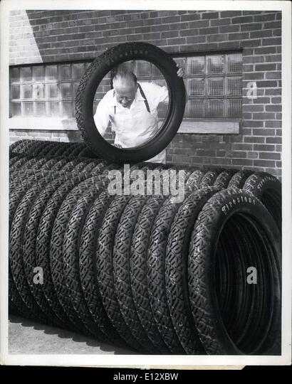 Feb. 26, 2012 - First shipment of old-fashioned tires is on its way from Akron, Ohio, to Washington to meet the - Stock Image