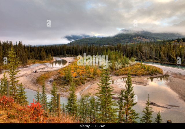 Bow Valley, Banff National Park, Alberta, Canada - Stock Image