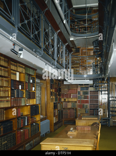 Library at The Natural History Museum at Tring - Stock Image