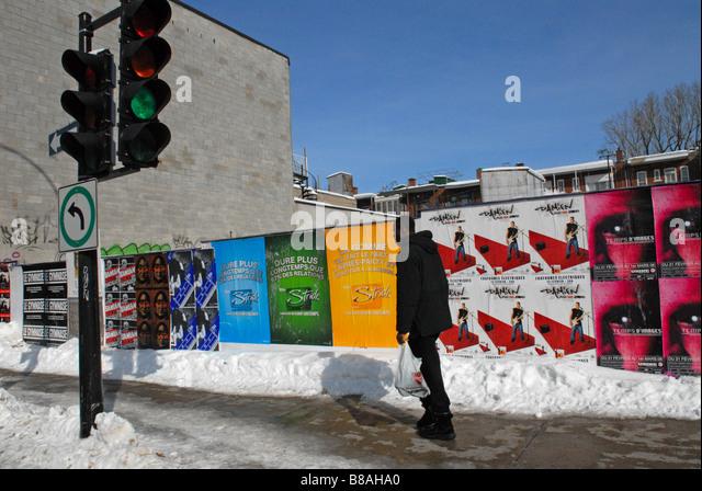 Boulevard Saint Laurent Montreal - Stock Image