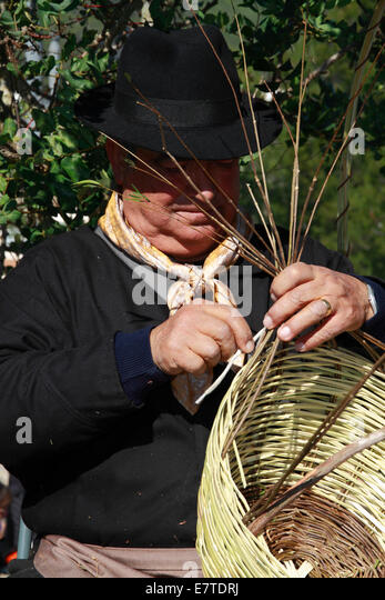 Traditional Basket Making : Basket weaver stock photos images