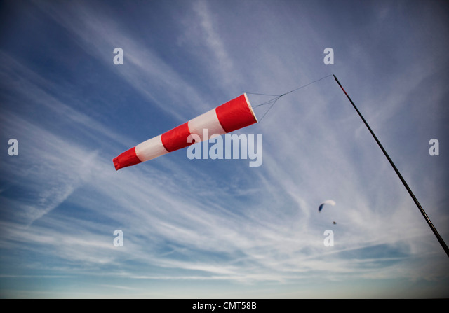 Direction of relative wind - Stock Image