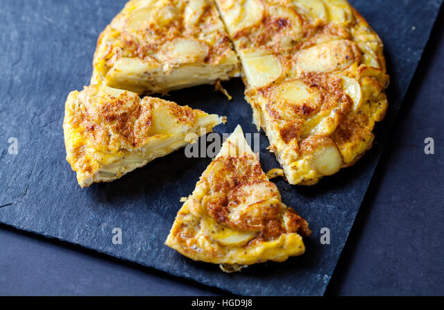 Authentic Spanish tortilla - Stock Image