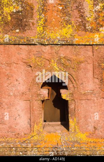 Ethiopia, Lalibela, church of Bet Giyorgis (St. George's) - Stock Image