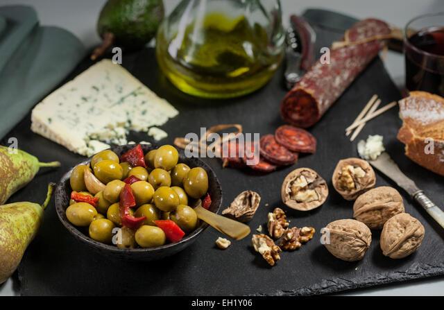 Snacks, tapas -Spanish food - Stock Image