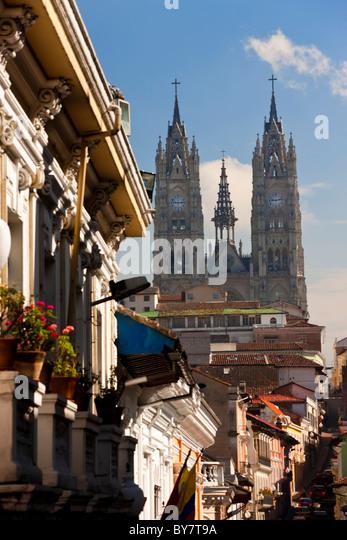 Church of La Basilica del Voto Nacional Quito, Ecuador - Stock Image