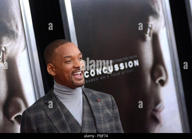 New York, NY, USA. 16th Dec, 2015. Will Smith at arrivals for CONCUSSION Premiere, AMC Loews Lincoln Square, New - Stock Image
