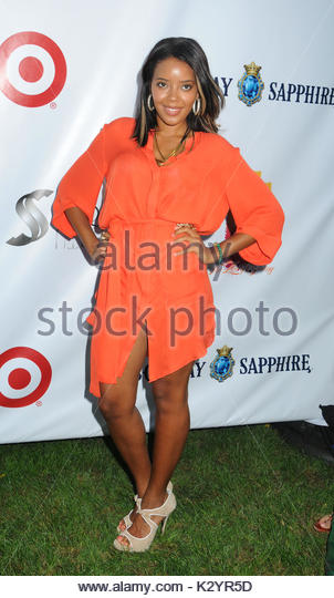 Angela Simmons. Arrivals to the 12th Annual Art For Life Benefit in East Hampton, NY.  - Stock Image