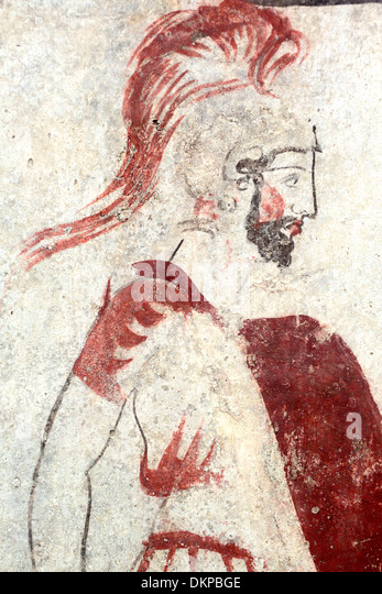 Ancient greek warrior stock photos ancient greek warrior for Ancient greek mural