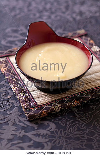 Parsnip and apple veloute - Stock Image