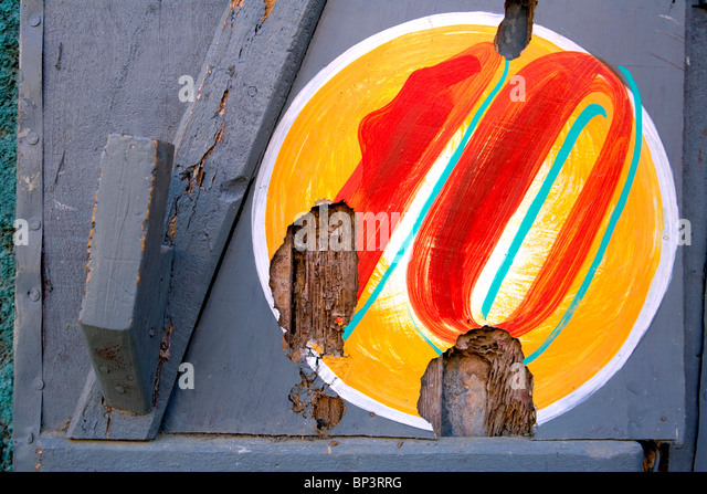 Haiti, Nord, Cap Haitien, number 10 on wall. - Stock Image