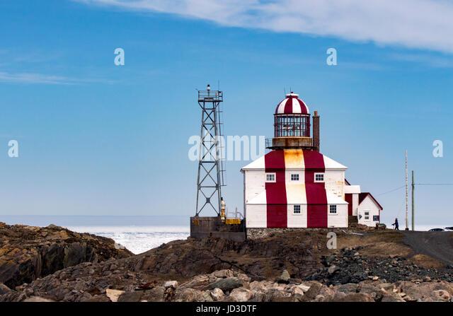 Cape Bonavista Lighthouse - Cape Bonavista, Newfoundland, Canada - Stock Image