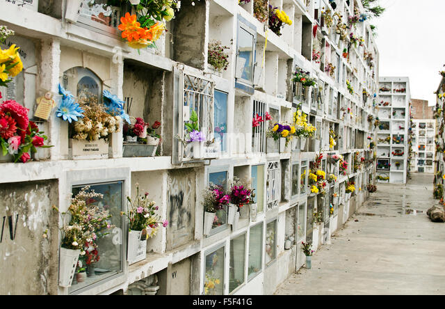 Lima cemetery - Stock Image