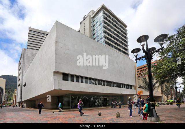 Gold museum, Museo del Oro, in Bogota, Columbia - Stock Image