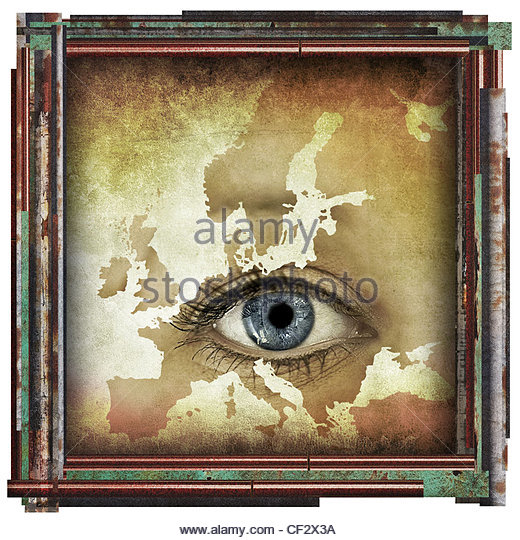 eye in europe - Stock Image