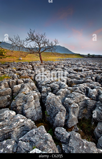 The Yorkshire Dales National Park at Dusk. - Stock Image
