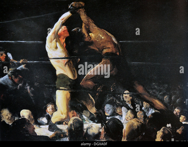 Both Members of This Club - by George Bellows 1909 - Stock Image