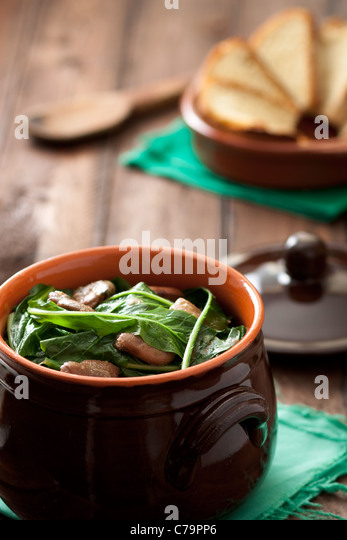 Chicory with Broad Beans: a Traditional Dish form Apulia, Italy - Stock Image