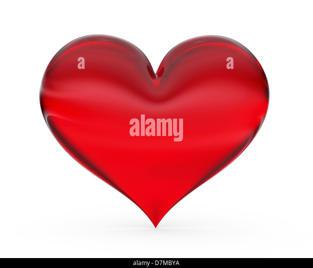 Red heart, artwork - Stock Image