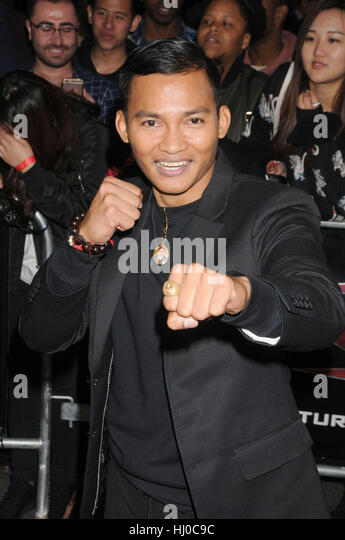 Hollywood, USA. 19th Jan, 2017. Actor Tony Jaa at the 'xXx - Return of Xander Cage' premiere held at the - Stock Image