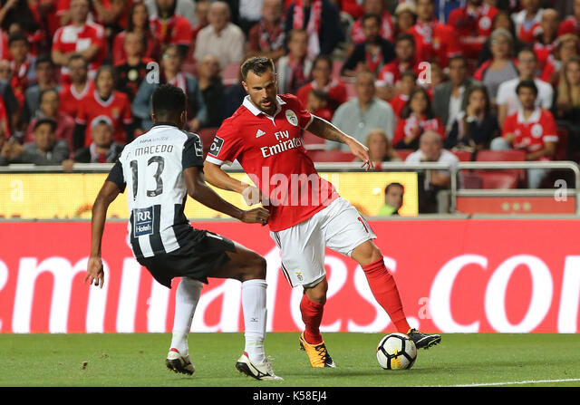 Benfica«s forward Haris Seferovic from Switzerland during the Premier League 2017/18 match between SL Benfica - Stock Image