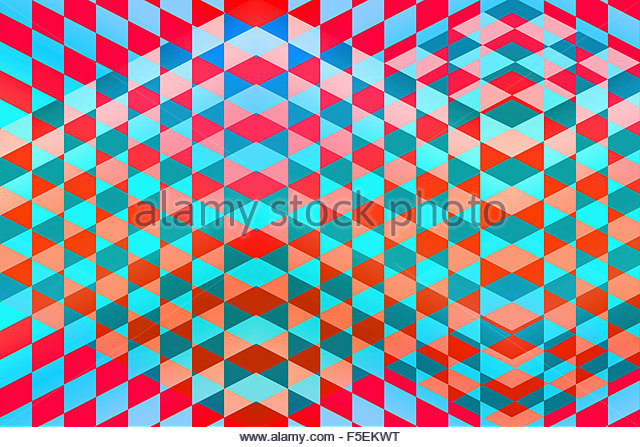 Full frame geometric tile pattern - Stock Image