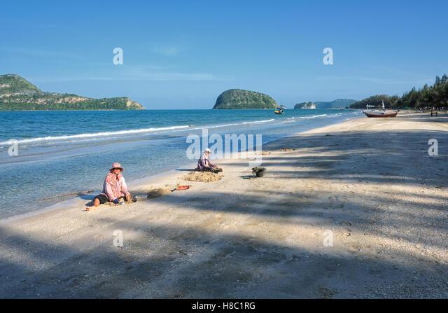 Everyday life of Thai people in Hua Hin Thailand - Stock-Bilder